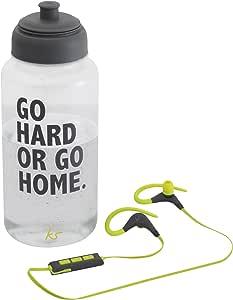 KitSound Sports 赛车耳机和水瓶 - */黑色
