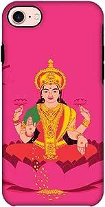 AMZER 双层混合手工设计师防震手机壳带屏幕清洁套件 适用于 iPhone 8 - Aamchi MumbaiAMZ601040238504 Almighty Laxmi Almighty Laxmi
