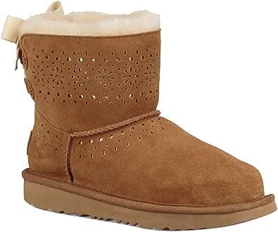 UGG 女式 Dae Sunshine Perf 羊毛靴 栗色 2 M US 儿童