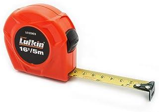 "Crescent Lufkin AL725MAGN 2.54 厘米 x 63.5 厘米高維茲橙色磁性自動鎖黃色包扎卷尺 3/4"" x 5m/16' SAE/Metric L616CMEN"