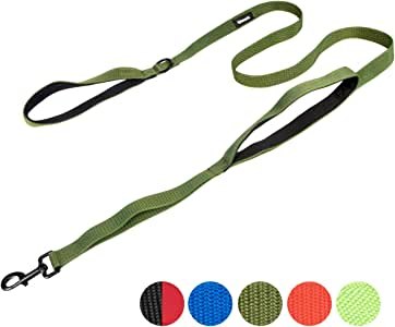 IronSeals AQ 1000D 尼龙长款训练牵引绳,带两个加厚的氯丁橡胶手柄和坚韧的钢扣