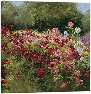 "iCanvasART 46 Cosmos Garden II 油画印刷品 18"" x 18"" WAC1607-1PC3-18x18"