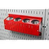 Wall Control ASM-CH-014 B 钉板喷雾罐支架和气溶胶罐收纳器适用于钉板和开槽工具板 红色 14in x 7in ASM-CH-014 R