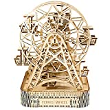 Wooden City 摩天轮,木质,白色220x 260x 322厘米,3件装