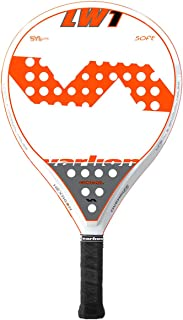 VARLION LW One Soft Padel 网球拍,成人男女通用,白色/橙色,305-310 克