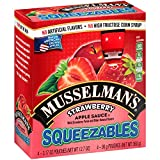 Musselman's Squeezable Strawberry Apple Sauce Pouches, 3.17 Ounce (Pack of 6)