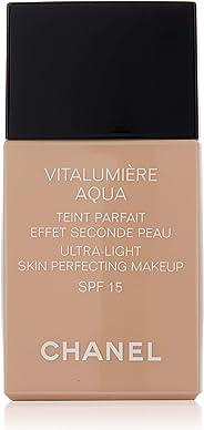 Chanel Vitalumiere Aqua 超轻肌肤完美化妆 SPF 15-30 ml,22 米色玫瑰