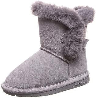 Bearpaw 休闲靴 女孩 5 1/4 英寸 Betsey 青年(2,灰色雾)