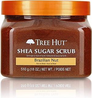 Tree Hut 乳木果糖磨砂膏,巴西坚果,超保湿和去角质磨砂膏,可滋养基本身体护理(3瓶),18盎司,510克