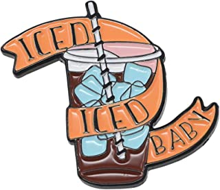 WIZARDPINS Iced Iced Iced Baby Iced Coffee 横幅珐琅翻领别针