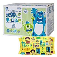 怪物家 純水99% 手·濕巾 60片裝×20個 (1200張) 日本制 不含防腐劑
