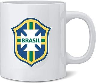 海报 Foundry 巴西足球国家队足球徽章陶瓷咖啡杯茶杯趣味新奇礼物 355 毫升