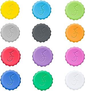 Lurch 210228 12个硅胶软木塞,不同颜色,