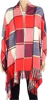 2 层 * 羊绒围巾 71.12 X 203.2 厘米超大毛毯系列苏格兰制造羊毛纯格子