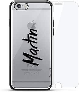 镀铬系列 360 套装:设计师手机壳 + 钢化玻璃 适用于 iPhone 6/6s PlusLUX-I6PLCRM360-NMMARTIN1 NAME: MARTIN, HAND-WRITTEN STYLE 银色