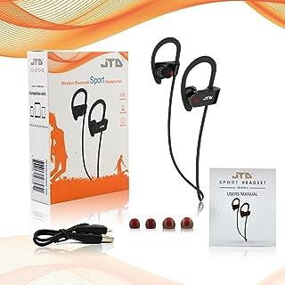 JTD 高级无线蓝牙 4.1 耳机降噪轻便防汗耳机带麦克风,非常适合运动、跑步、健身、锻炼-无线蓝牙耳塞耳机JTD-BTSH-2B