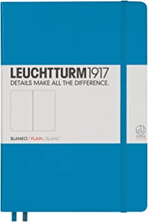 LEUCHTTURM1917 灯塔 中开无格笔记本天蓝色硬封皮(A5)