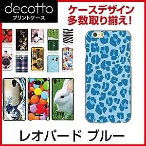 DIGNO S KYL21 *智能手机保护套[豹子・斑马纹] [透明(透明) 手机壳]cpc-kyl21-leopb006 レオパード ブルー