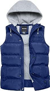 Wantdo 男式冬季棉服背心可拆卸连帽夹棉保暖无袖夹克大衣
