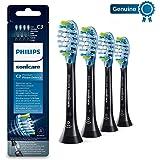 Philips 飞利浦 Sonicare Premium BrushSync 防御牙菌斑电动牙刷替换刷头,4pk黑色——HX9044 / 33