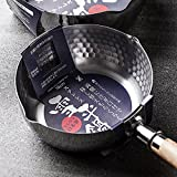 YOSHIKAWA 吉川 日本进口 不锈钢 汤锅 奶锅 木柄 泡面锅 电磁炉可用 日式 粥锅 雪平锅(18cm锅)
