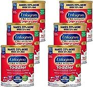 Mead Johnson 美赞臣 Enfagrow 安儿宝 婴幼儿优质营养奶粉,香草味,32盎司(约907.18克),2升,罐装(6罐)-Enfamil制造商,含Omega 3 DHA,益生元,不经人工改造的成分(包装可