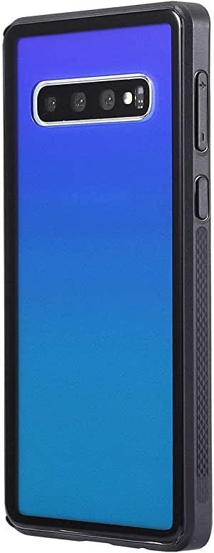 Gorilla Gadgets Galaxy S10 手机壳,渐变色 Aurora 钢化玻璃后盖带纤薄柔软 TPU 缓冲套,适用于三星 Galaxy S10 Aurora