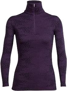 Icebreaker Women's Vertex Long Sleeve Half Zip Flurry Bodyfit