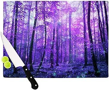 "Kess InHouse Iris Lehnhardt""魔法木""砧板,紫色 紫色 11.5 by 8.25-Inch IL2058ACB01"
