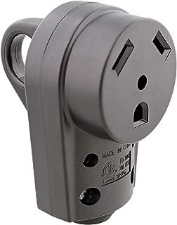 Dumble 30 安培房车插头更换件 - 房车电气适配器房车插头适配器,房车电源线 - 30A 125V 3爪母头