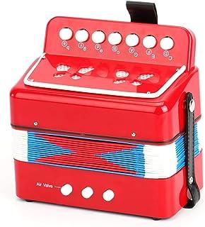 10-Key 儿童手风琴 w/3 空气阀,红色