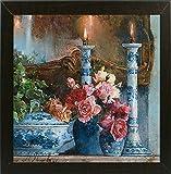 FRAME 美国131920–18–4fusa 中号 STILL with candles-larpsa131920印刷品 larisa psaryova ,21.59X 27.94cm ,实惠巴西胡桃木