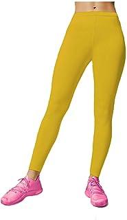 Papaval 女孩儿童无脚打底裤霓虹亮尼龙莱卡儿童运动舞蹈芭蕾舞蹈体操紧身裤