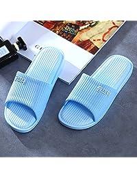 韩版 韩国风格 多彩 夏季拖鞋 浴室拖鞋 沙滩拖鞋 洗澡拖鞋 居家防滑 (40/41(建议39/40穿), 蓝色)