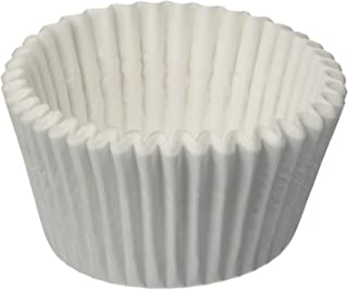 白色圆烘焙纸杯 1-7/8X1-5/16 (10M),500 支装卷纸