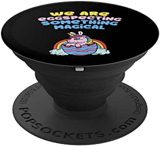 We Are Eggspecting 复活节孕期性别意识婴儿 - PopSockets 手机和平板电脑抓握支架260027  黑色