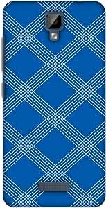 AMZER 手工制作设计师薄扣式硬质手机壳带屏幕保护套件,适用于 Gionee P7,高清颜色,超轻背壳AMZ601040423127 Carbon Fiber Redux Coral Blue 5