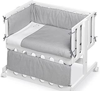 pirulos 24911601 – Motte 婴儿床 月亮设计 棉 白色和灰色