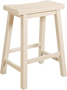 Powell Color Story Schoolhouse-Style Counter Stool, Pure White