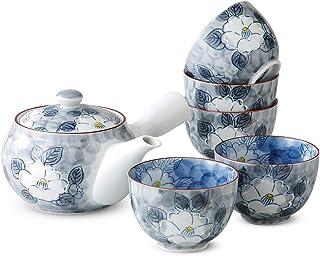 茶器 时尚 : 有田烧 一珍山茶花 茶壶茶具 Japanese Tea set(Tea pot x1pcs/Cup x5pcs) Porcelain/Size(cm) Cup, Φ8.3x5.7, Tea, pot17.5x15.5x9.5/No:631477