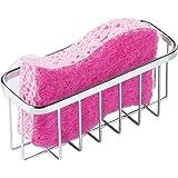 InterDesign Gia 厨房水槽不锈钢海绵、洗涤剂、肥皂吸盘式置物架