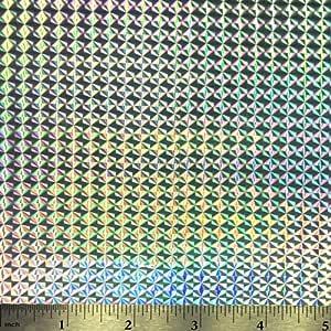 全息闪光自粘工艺乙烯基 30.48 厘米 x 91.44 厘米卷 Mystique Silver WWHG12x3