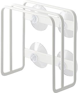 山崎実業 水槽边 吸盘式砧板架 白色 plate系列 约W12×D6×H12cm 3499