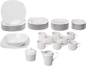 10 Strawberry Street Simply 圆形餐具套装 45 件套 白色 均码 SM-4500SQ-TSS