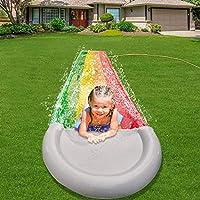 """儿童滑梯,成人儿童,花园后院巨型赛车道和戏水池,户外吹水滑梯,带碰撞垫的户外水上玩具 189inchx30inch """"Multi"""" BB-252"""