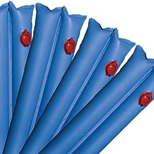 Robelle 高级 20 克。 单阀双舱 10 英尺蓝色冬季水管泳池罩 6-包每包 1 条 WB10DS-06