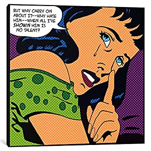 iCanvasART 1COM-1PC3 Why Carry on About It-'Roy Lichtenstein-Comic Books' Canvas Print by iCanvas, 0.75 by 12 by 12-Inch