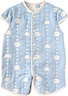 Hoppetta 两用 6重薄纱 睡衣 带袖 天空蓝