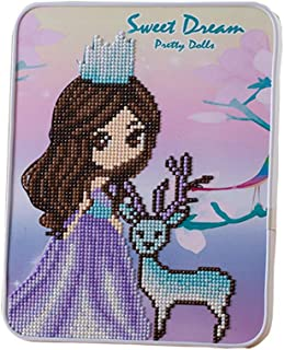 BengLiu 水晶 5D DIY 钻石绘画套件儿童节日礼品绘画图片数字套件刺绣绘画图片(紫色)