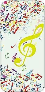 智能手机壳 透明 印刷 对应全部机型 cw-441top 套 音符 音符标志 音符号 UV印刷 壳WN-PR440760 Galaxy S8 Plus SM-G955 图案E